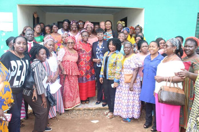 Gender, UN Women and Women of Liberia members gather for the retreat.